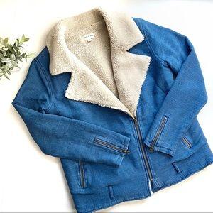 Cloth & Stone Sherpa Lined Moto Jacket